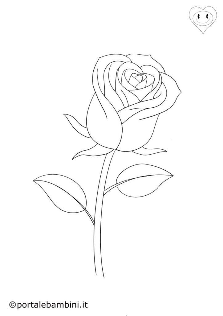 rose da colorare 1