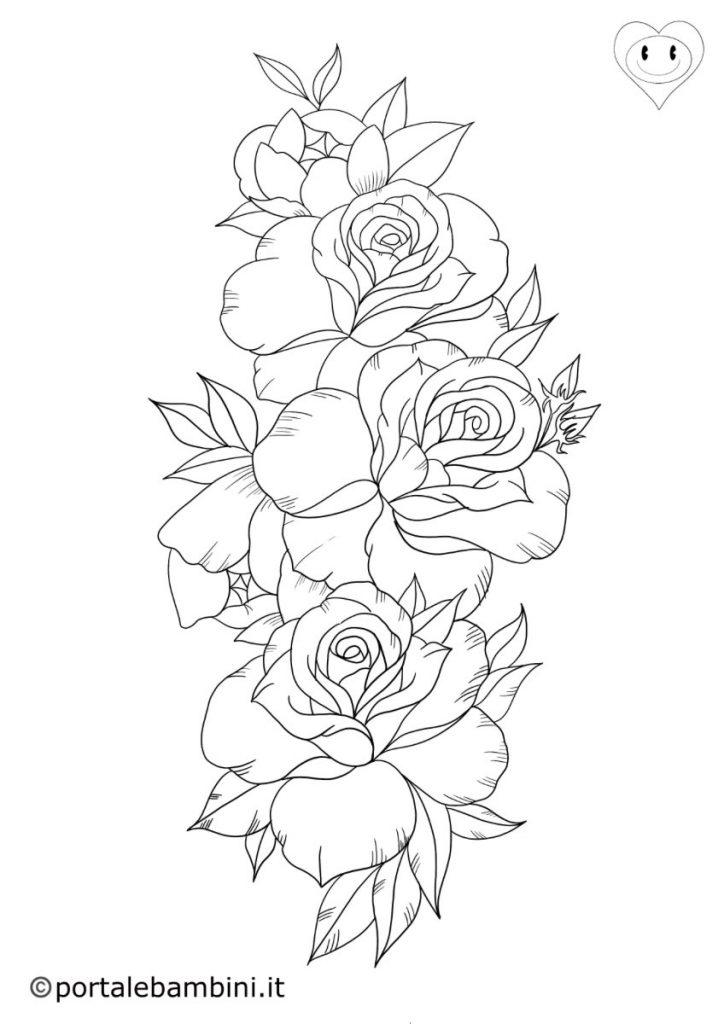 rose da colorare 2