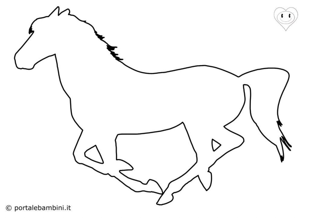 sagome di animali cavallo
