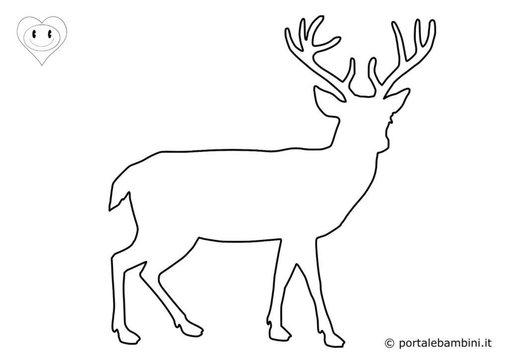 sagome di animali cervo
