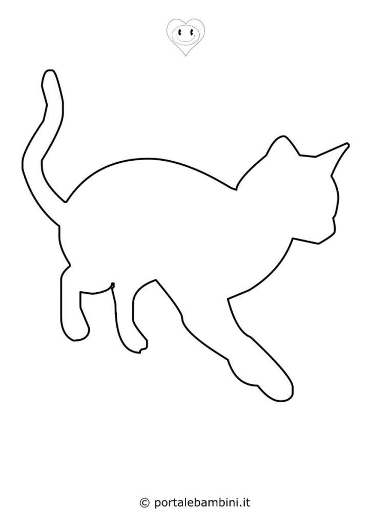 sagome di animali gatto