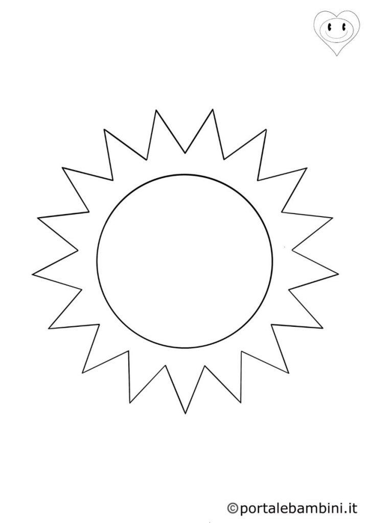 sole da colorare 2