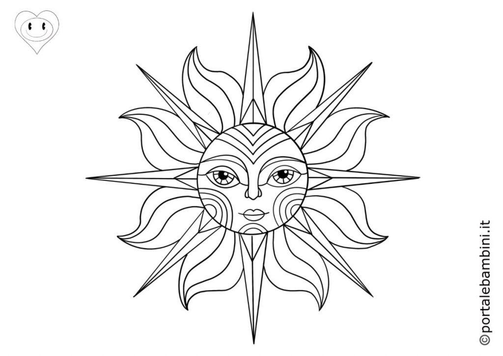 sole da colorare 6