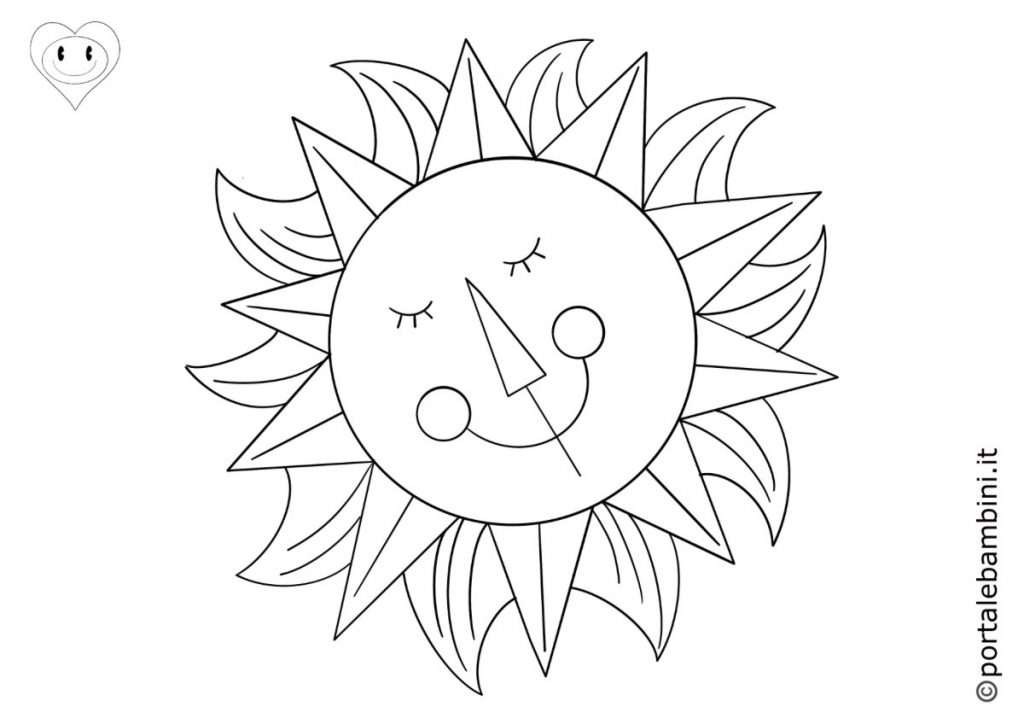 sole da colorare 5