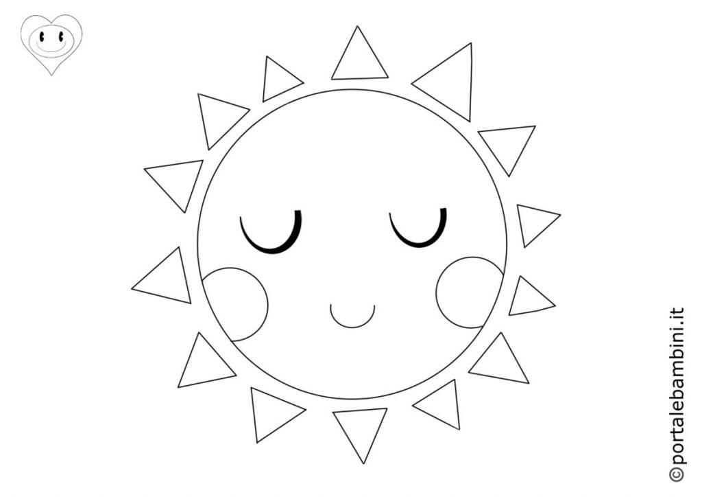 sole da colorare 4