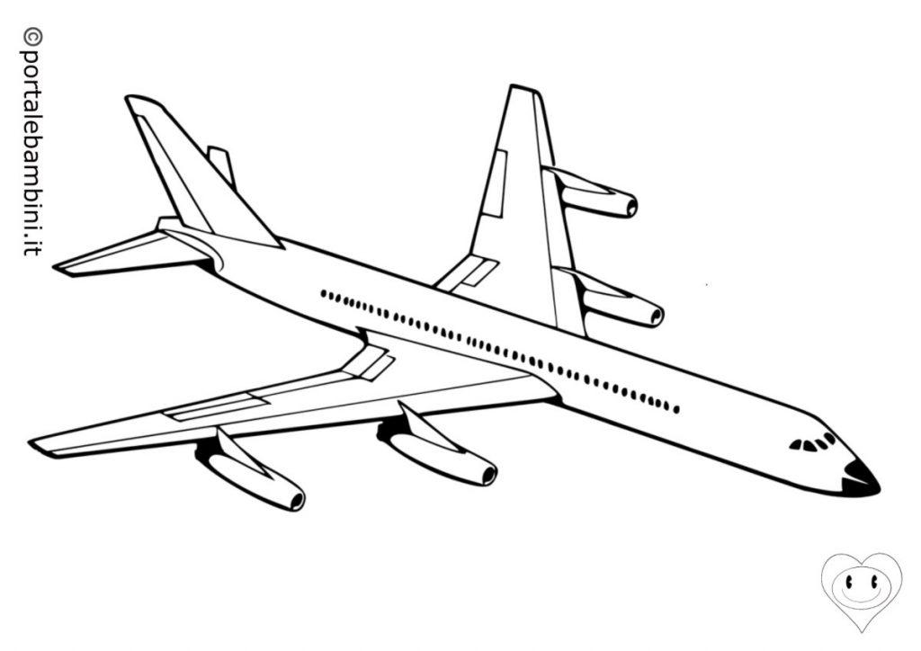 aerei da colorare 4
