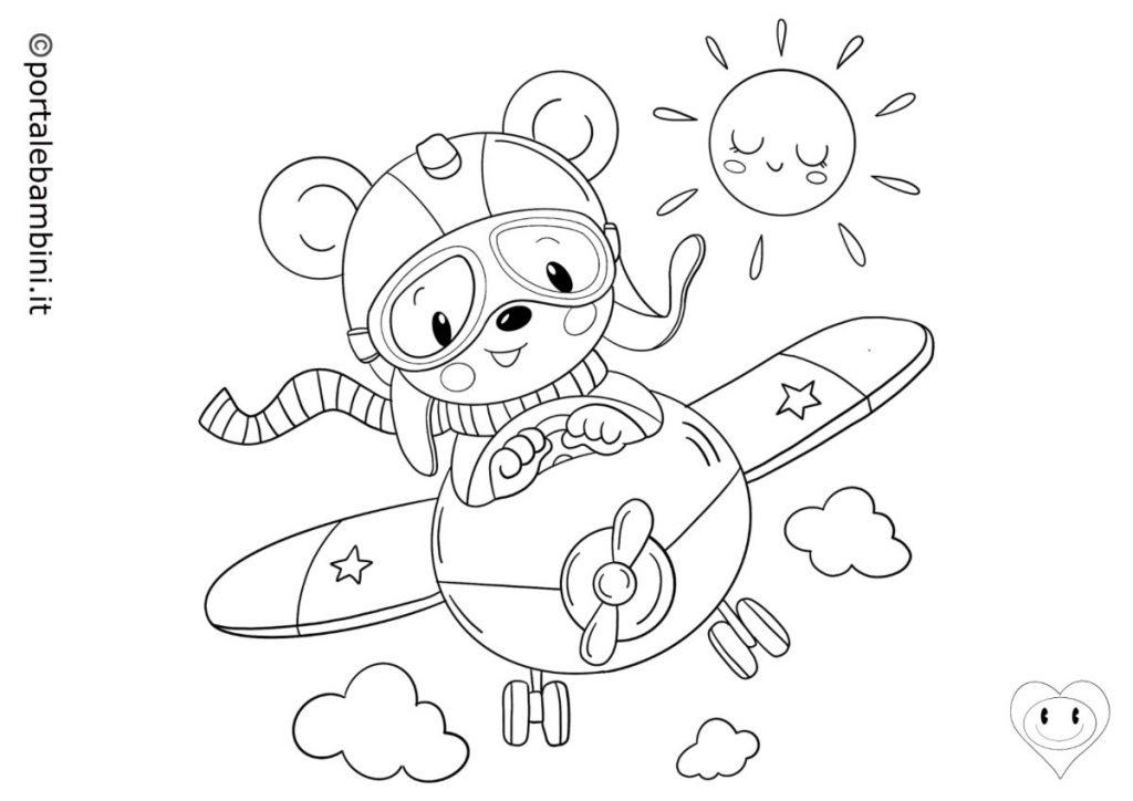 aerei da colorare 2