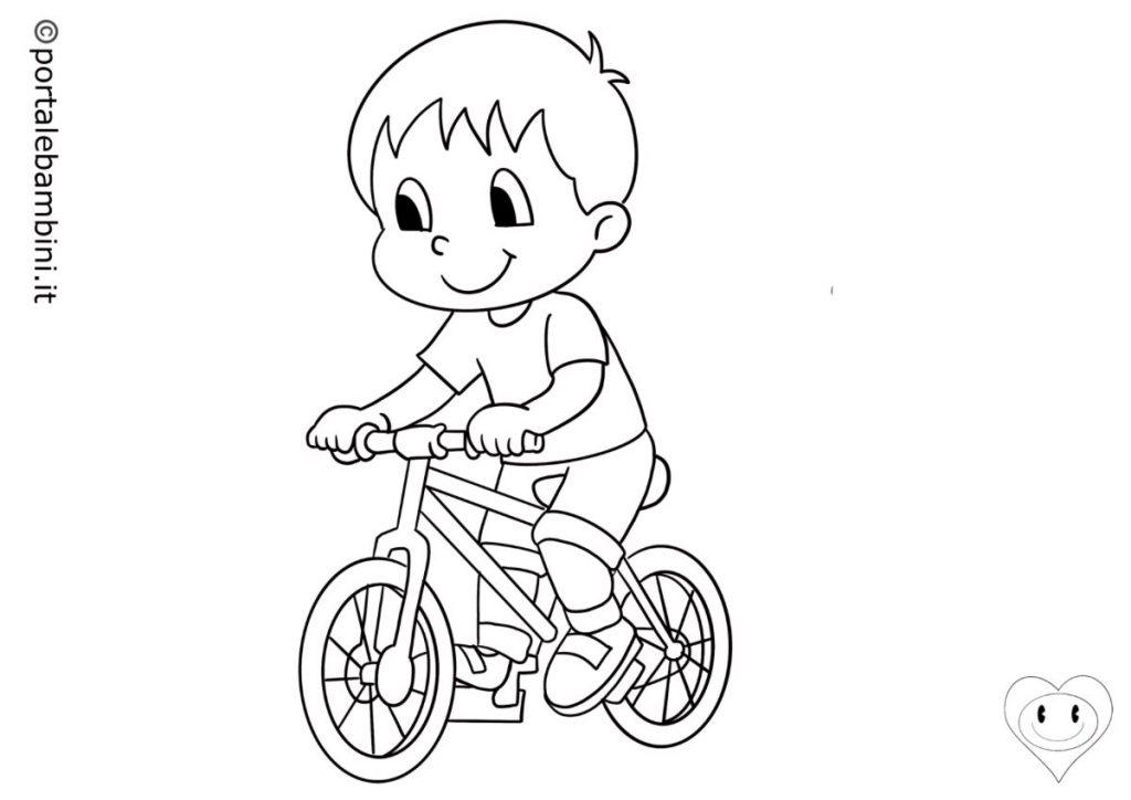 mezzi di trasporto da colorare biciclette