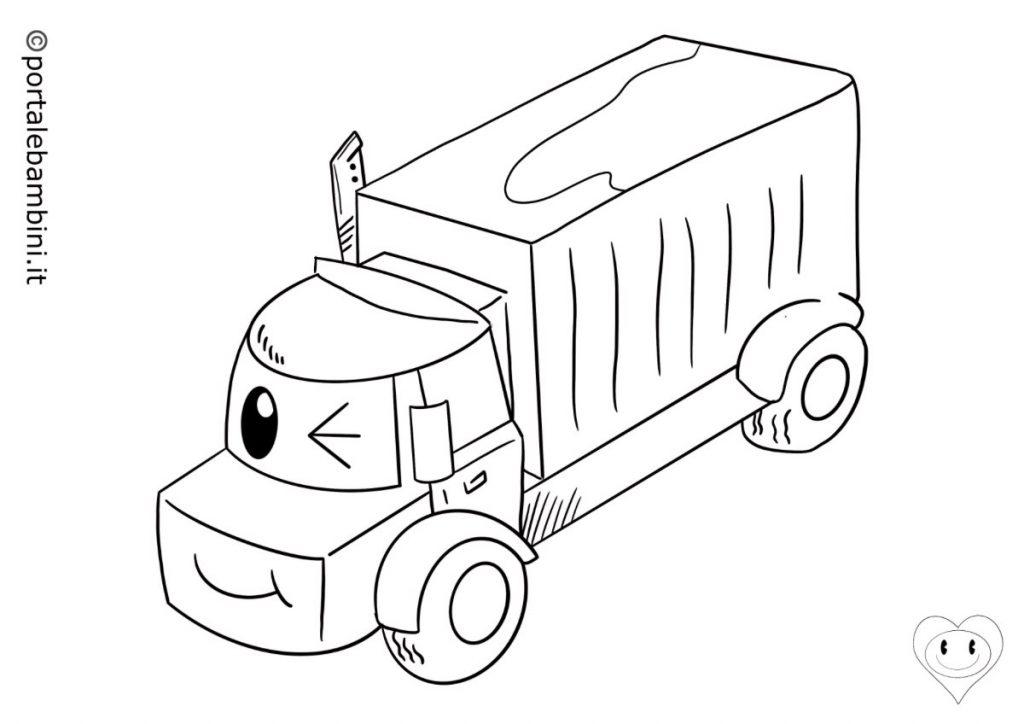mezzi di trasporto da colorare camion