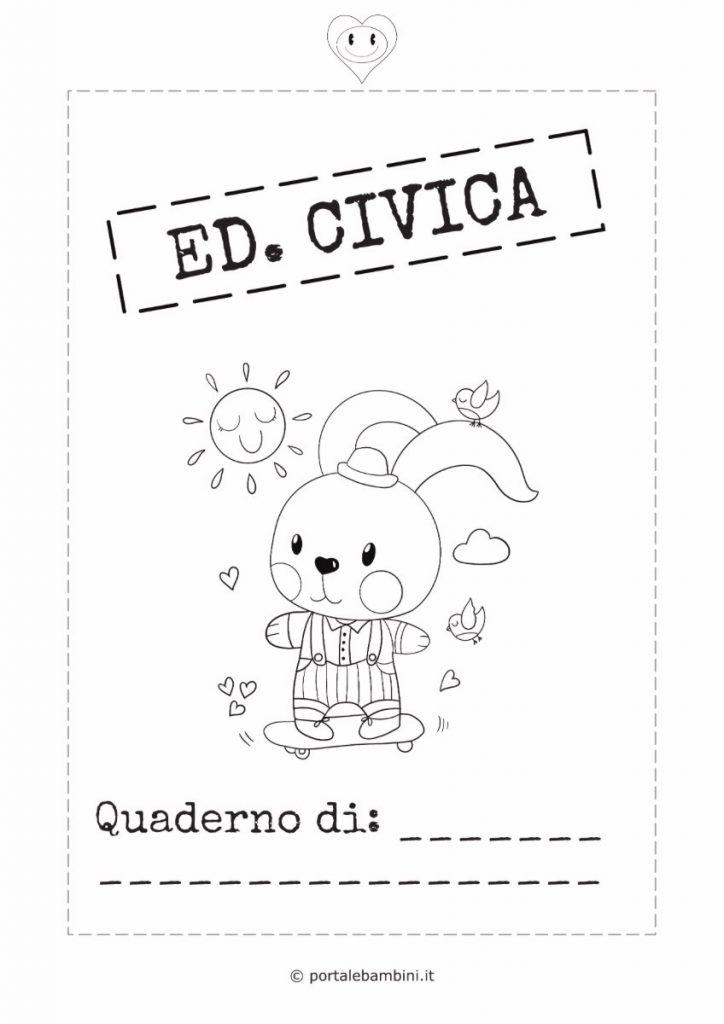 copertina quaderno di educazione civica