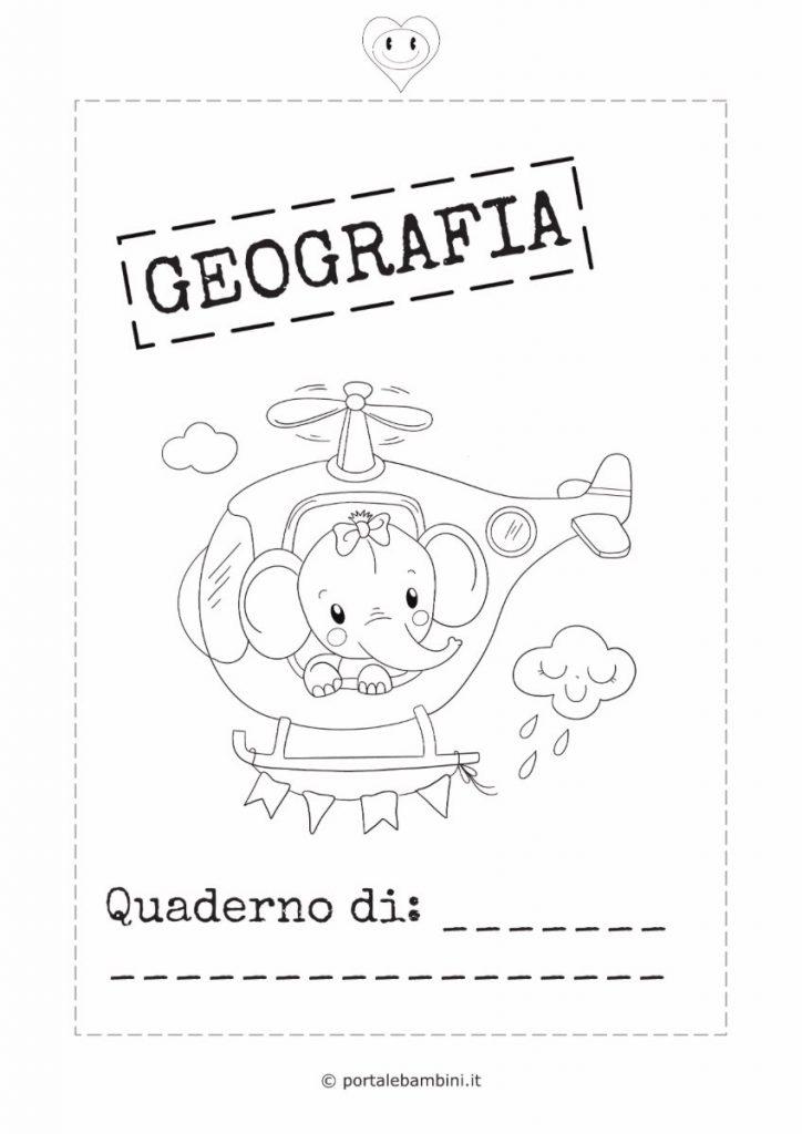 copertina quaderno di geografia