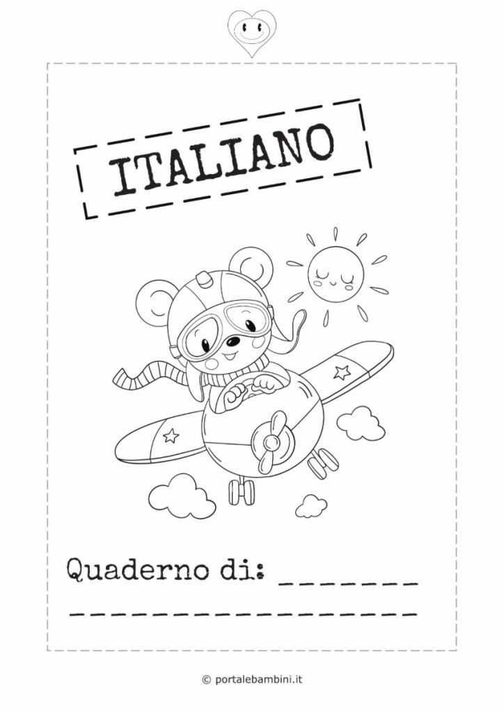copertina quaderno di italiano 2