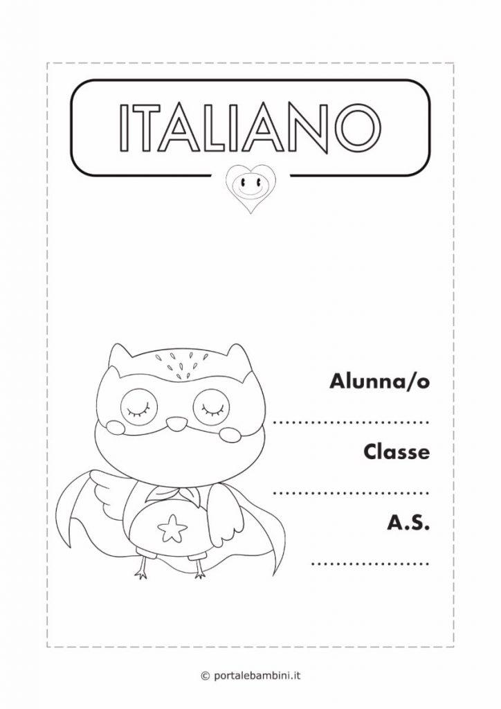 copertina quaderno di italiano 3