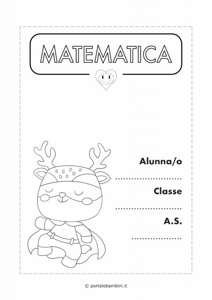 copertina quaderno di matematica 3