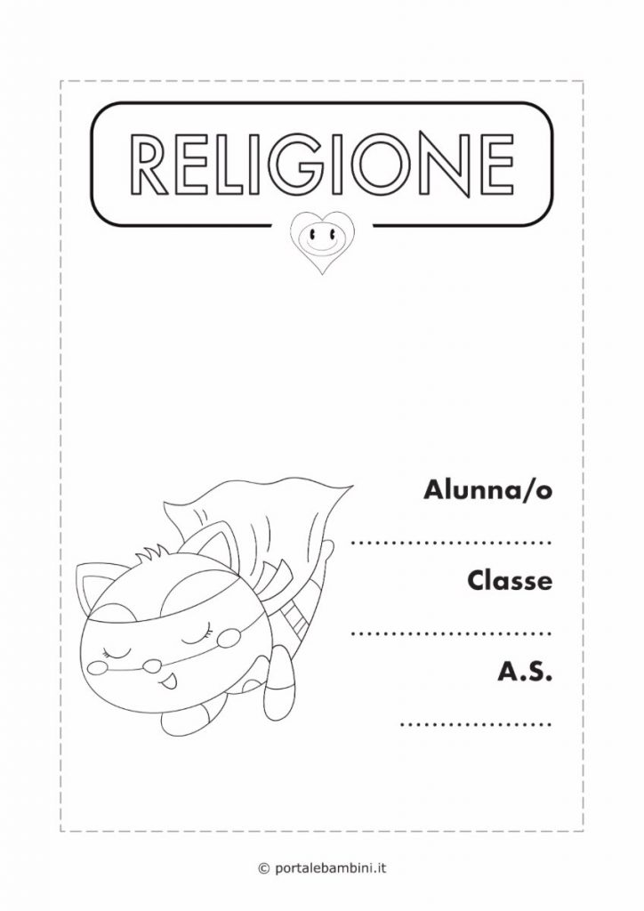 copertina quaderno di religione 3