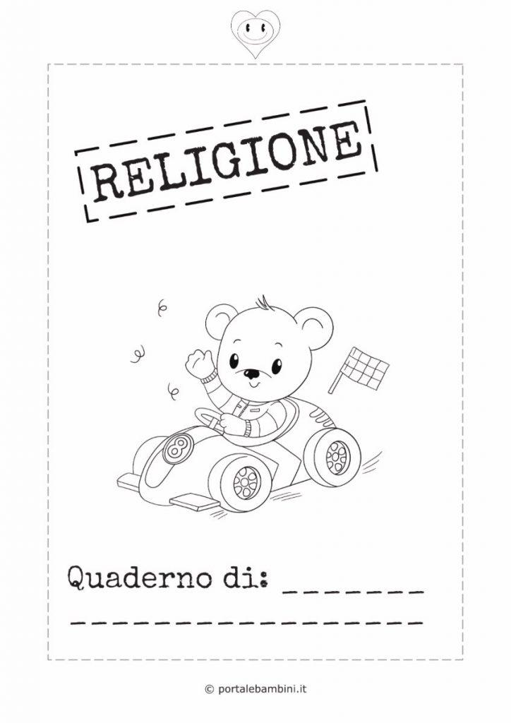 copertina quaderno di religione 2