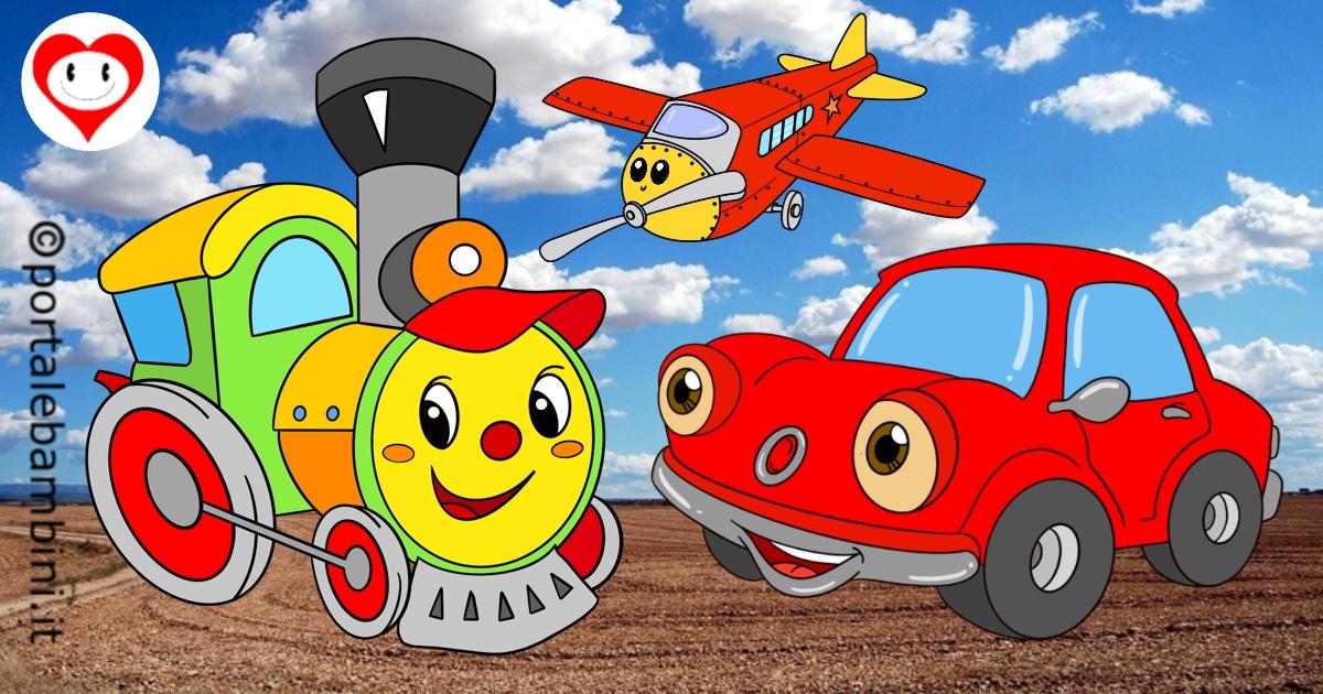 mezzi di trasporto da colorare