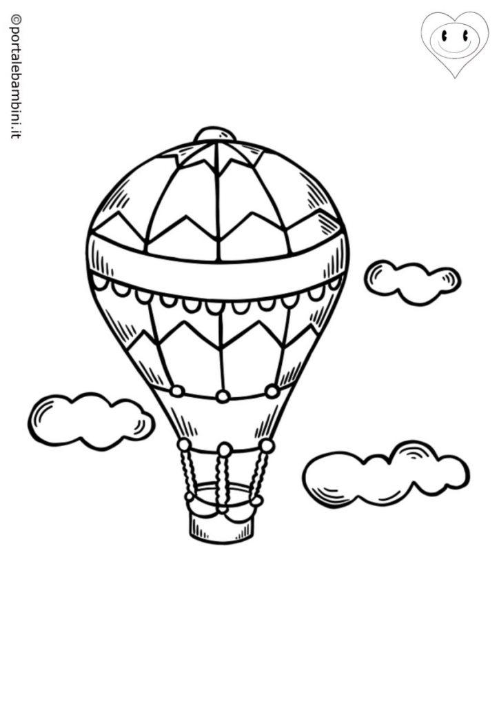 mongolfiere da colorare 2