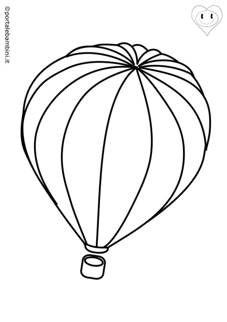 mongolfiere da colorare 1