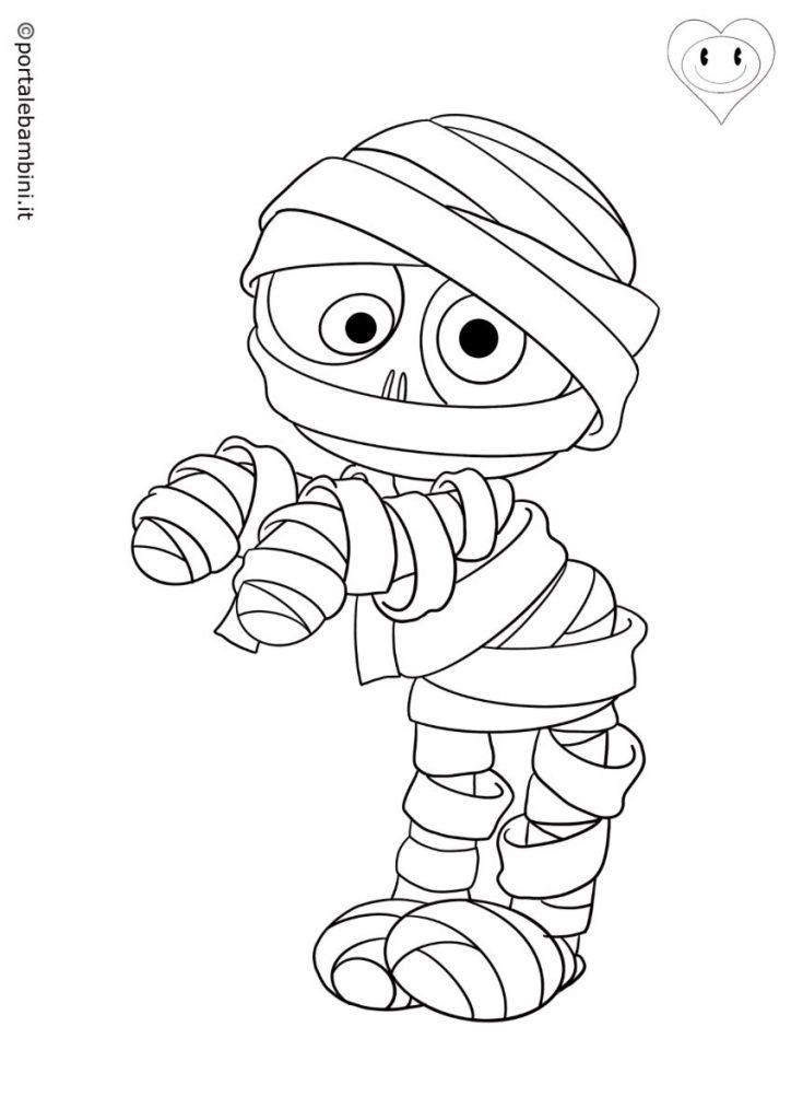 mummie da colorare 1