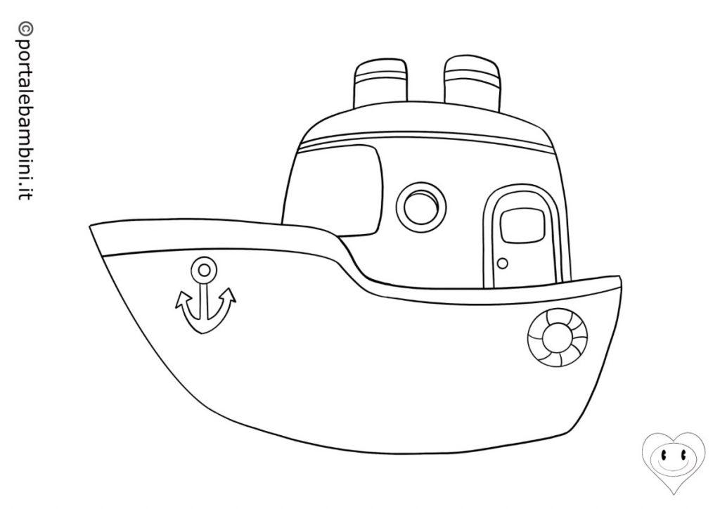 mezzi di trasporto da colorare navi