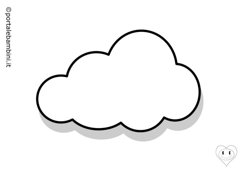 nuvola da colorare 1