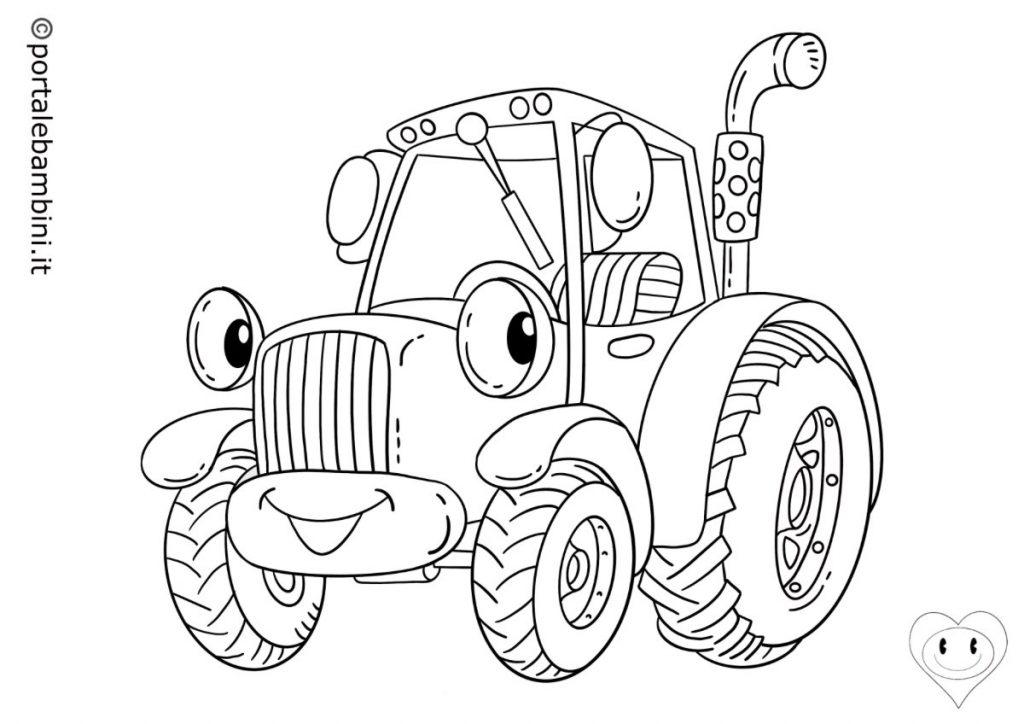 mezzi di trasporto da colorare trattori