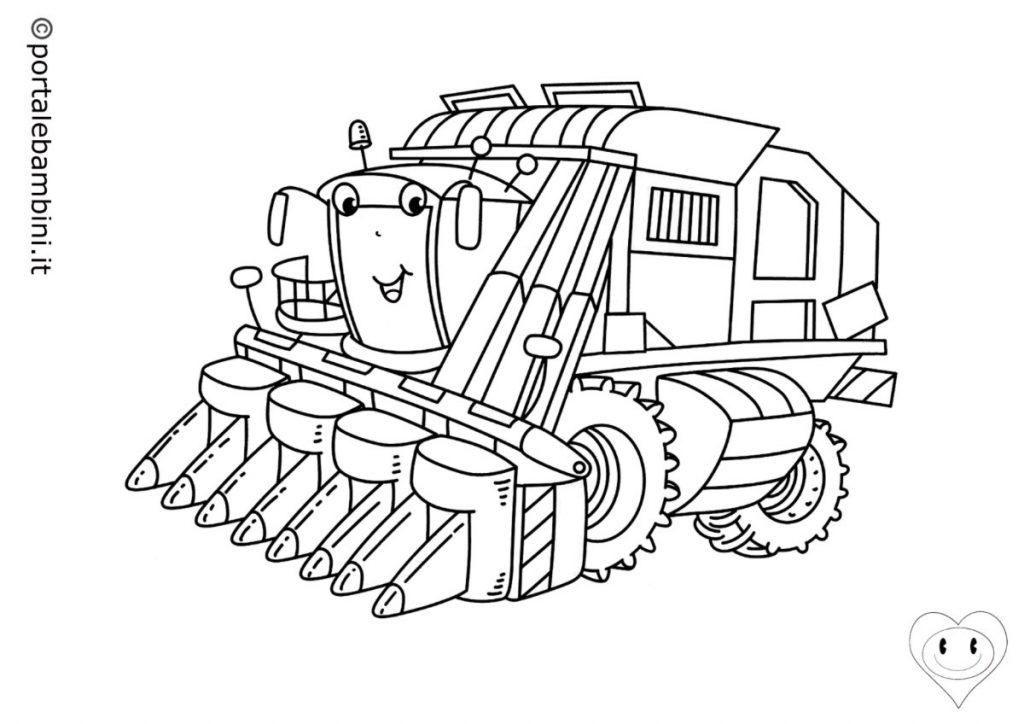 trattori da colorare 2