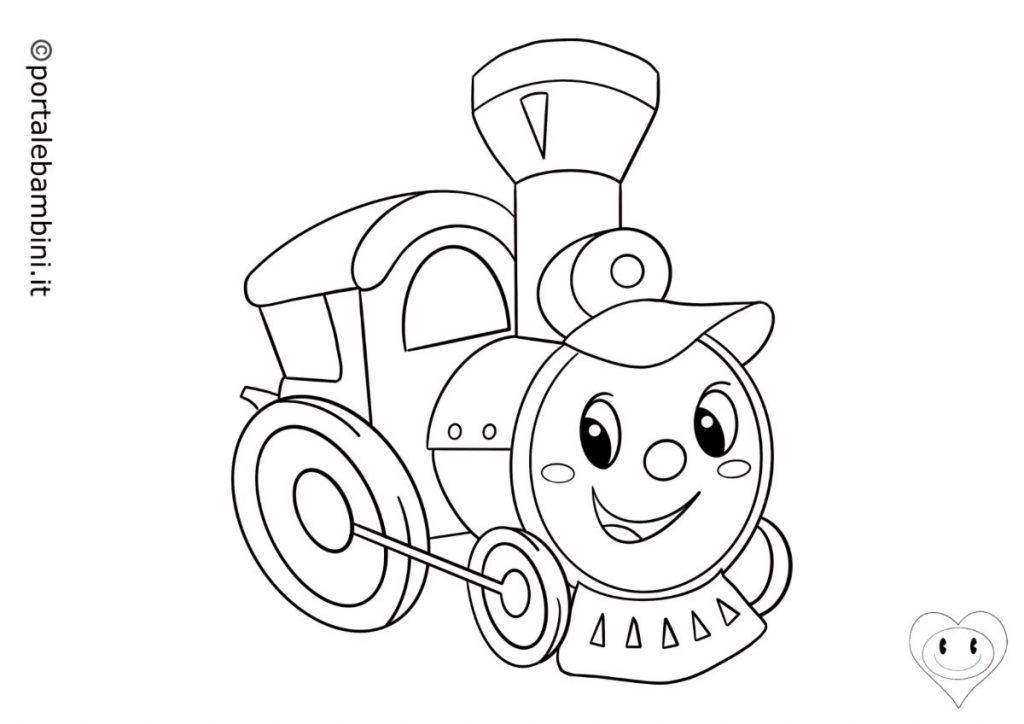 mezzi di trasporto da colorare treni