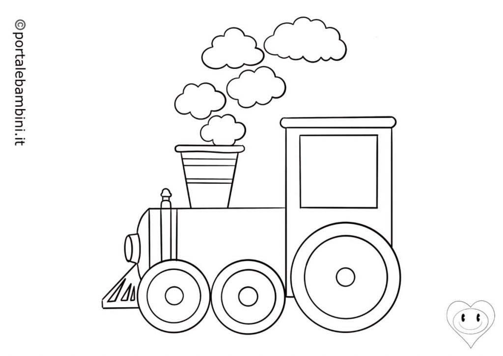 treni da colorare 2