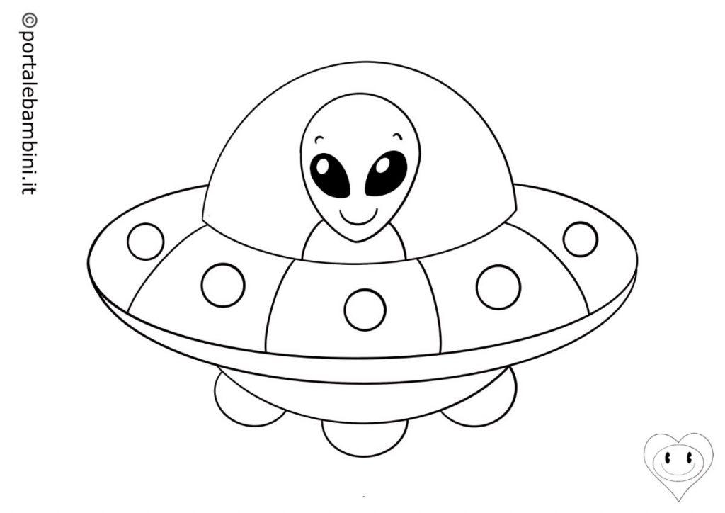 mezzi di trasporto da colorare ufo