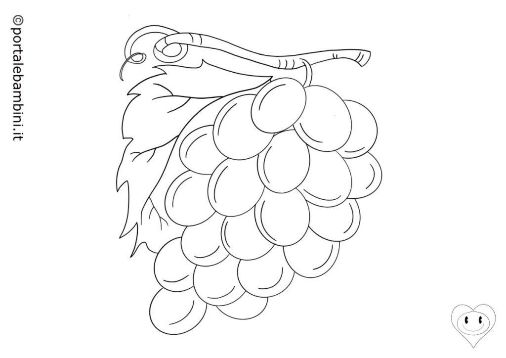 uva da colorare 1