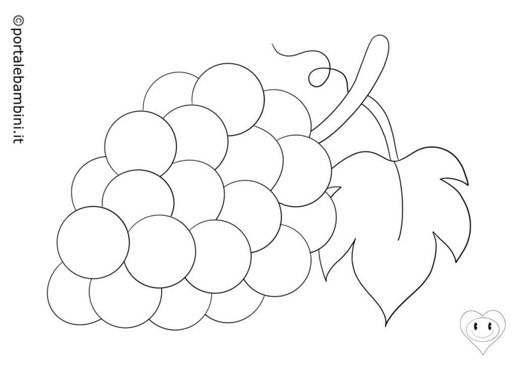 uva da colorare 2