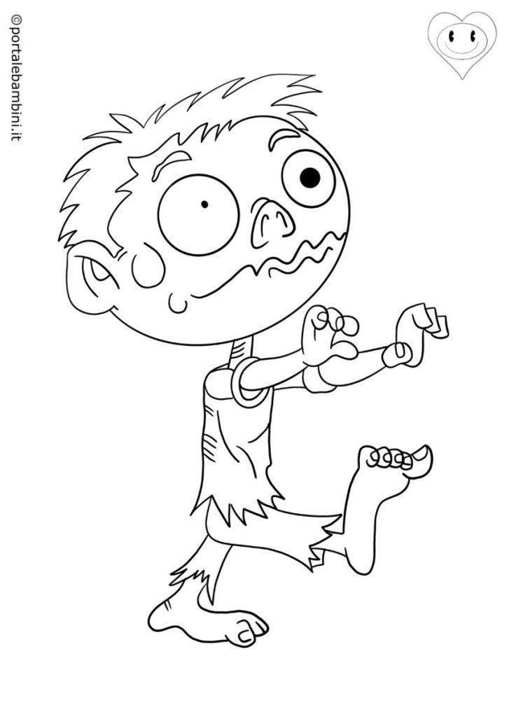 zombie da colorare 1