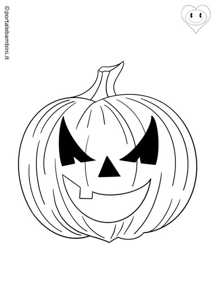 zucca di halloween da colorare 3