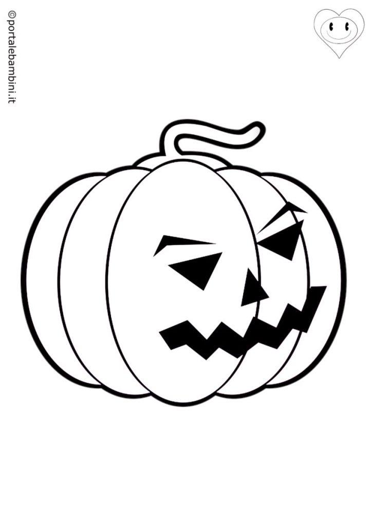 zucca di halloween da colorare 2