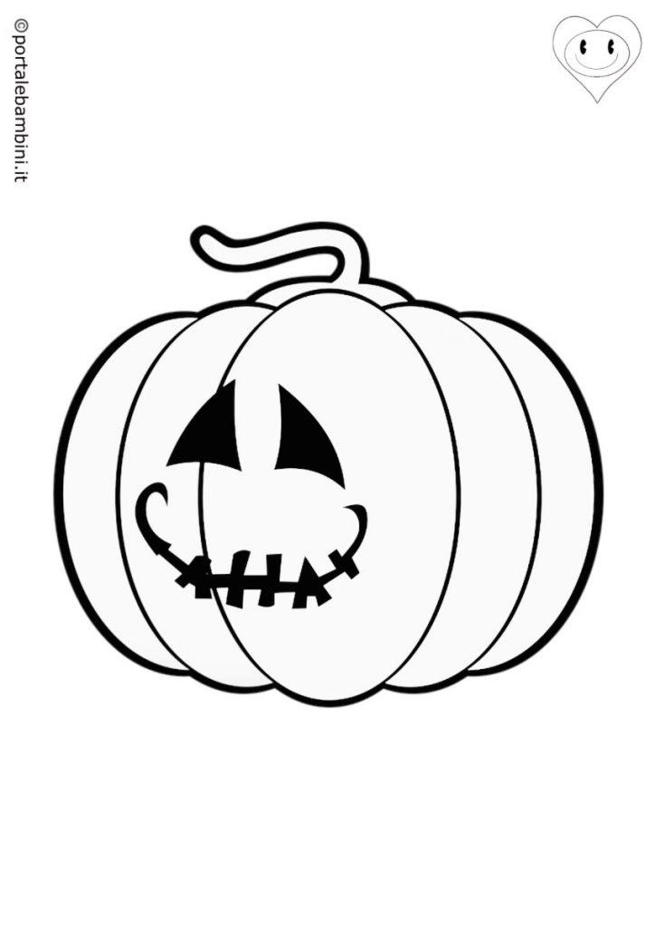 zucca di halloween da colorare 1