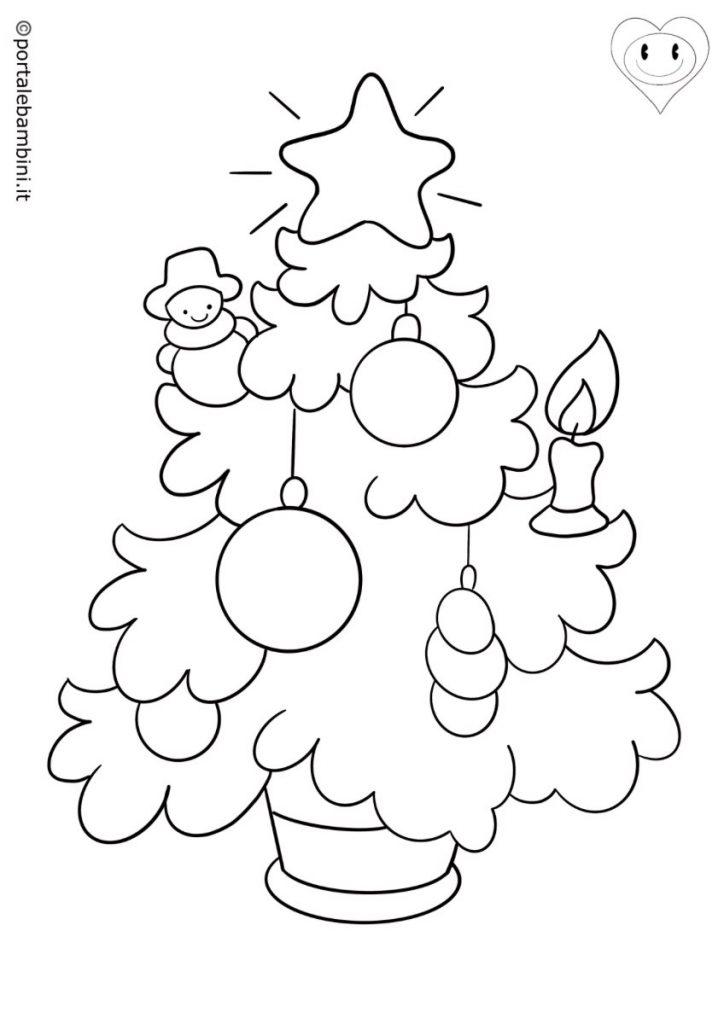 albero di natale da colorare 4
