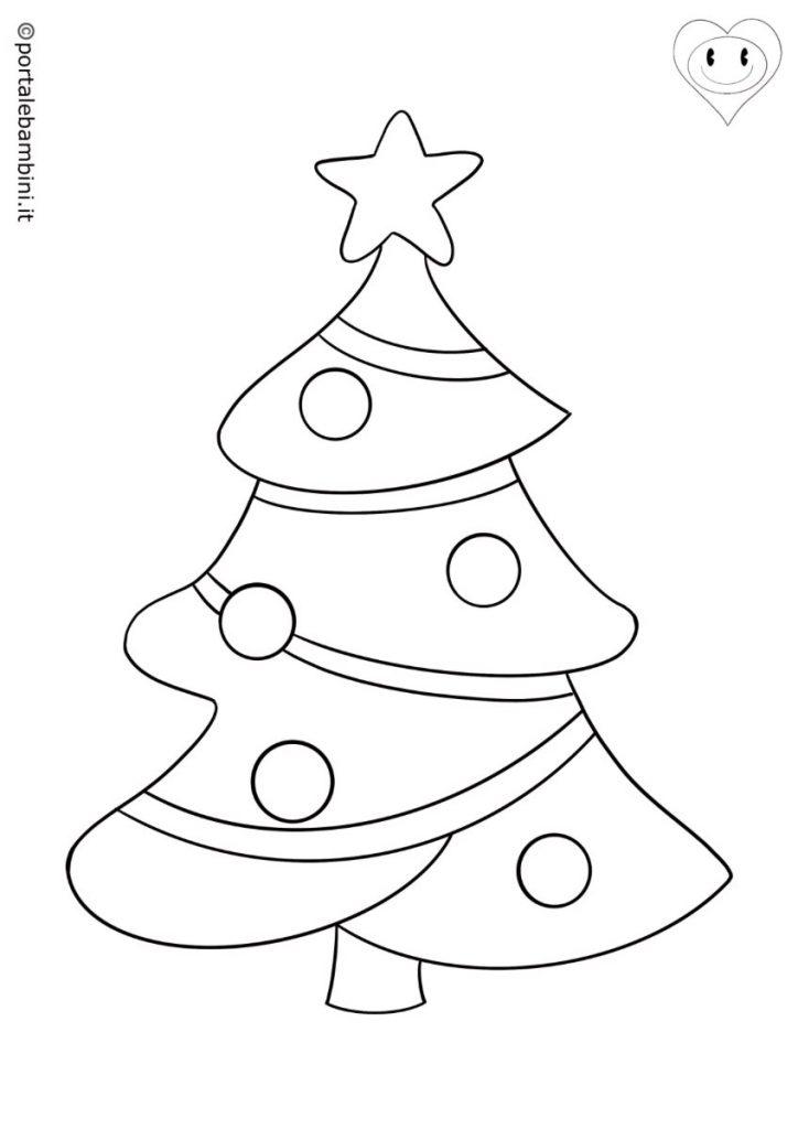disegni inverno albero di natale