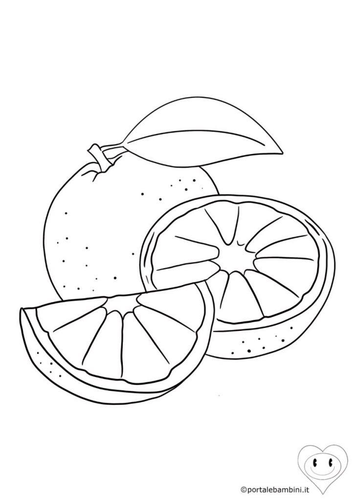 frutta da colorare arancia