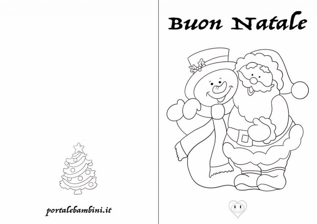 biglietti di Natale da stampare e colorare 1