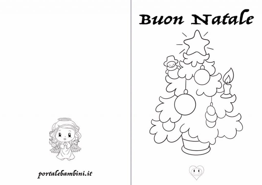 biglietti di Natale da stampare e colorare 2