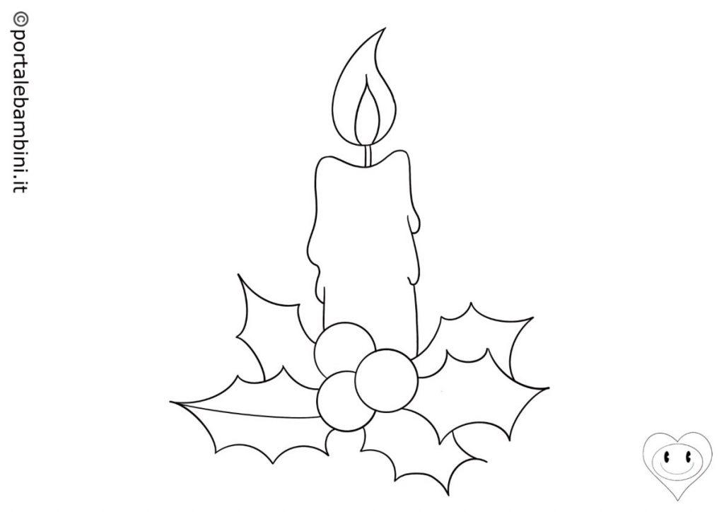 candele di natale da colorare 2