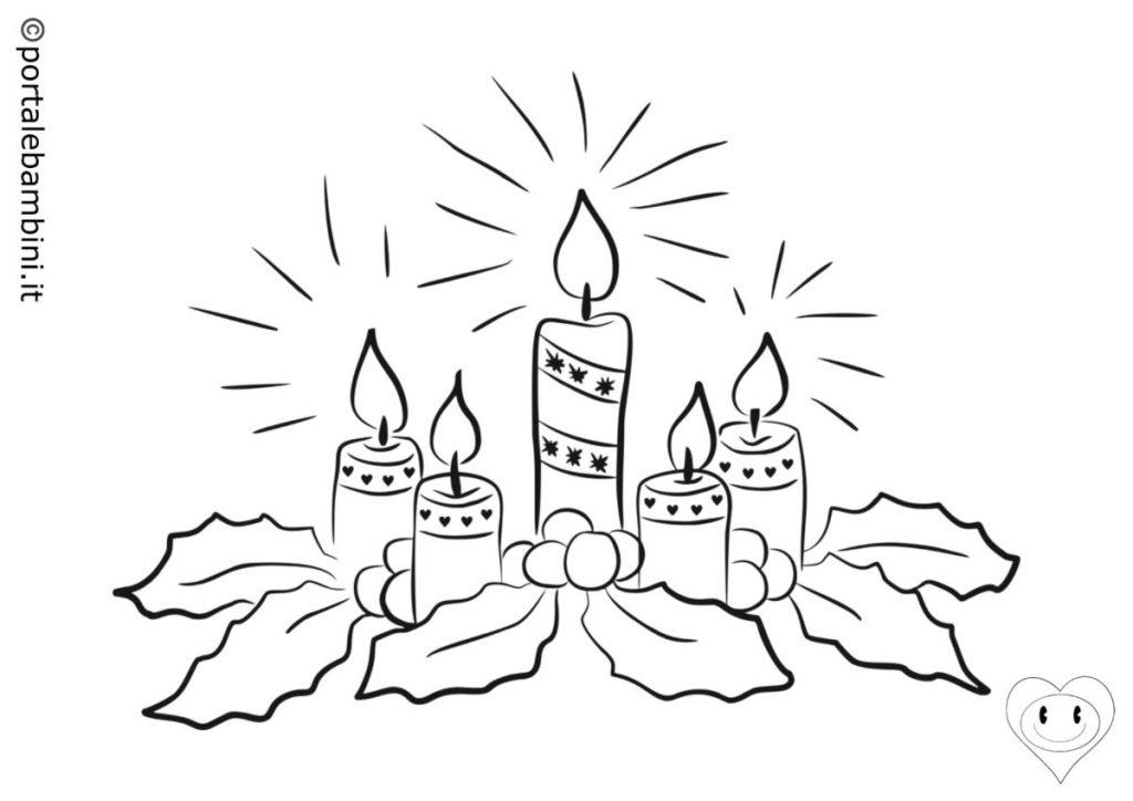 candele di natale da colorare 3