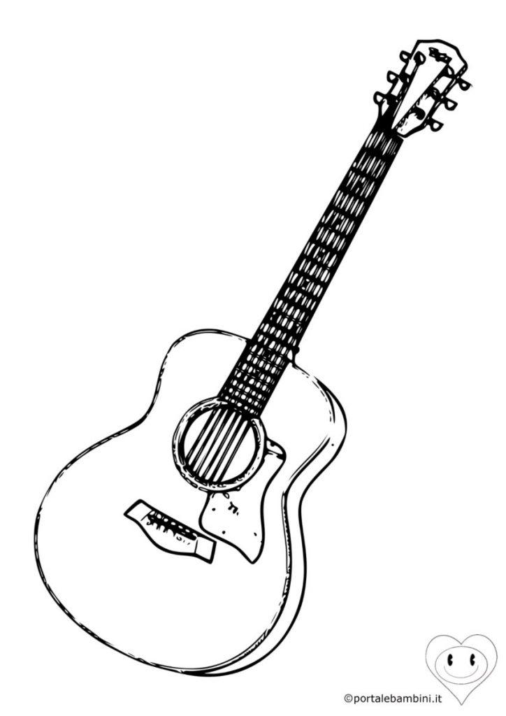 chitarra da colorare 1