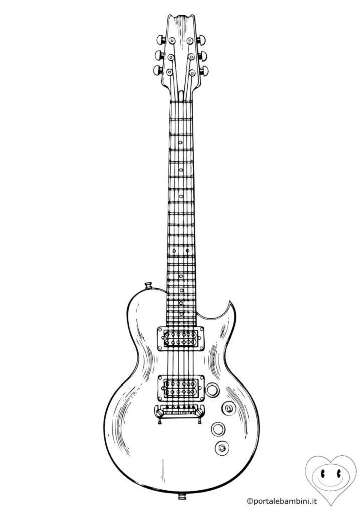 chitarra da colorare 2