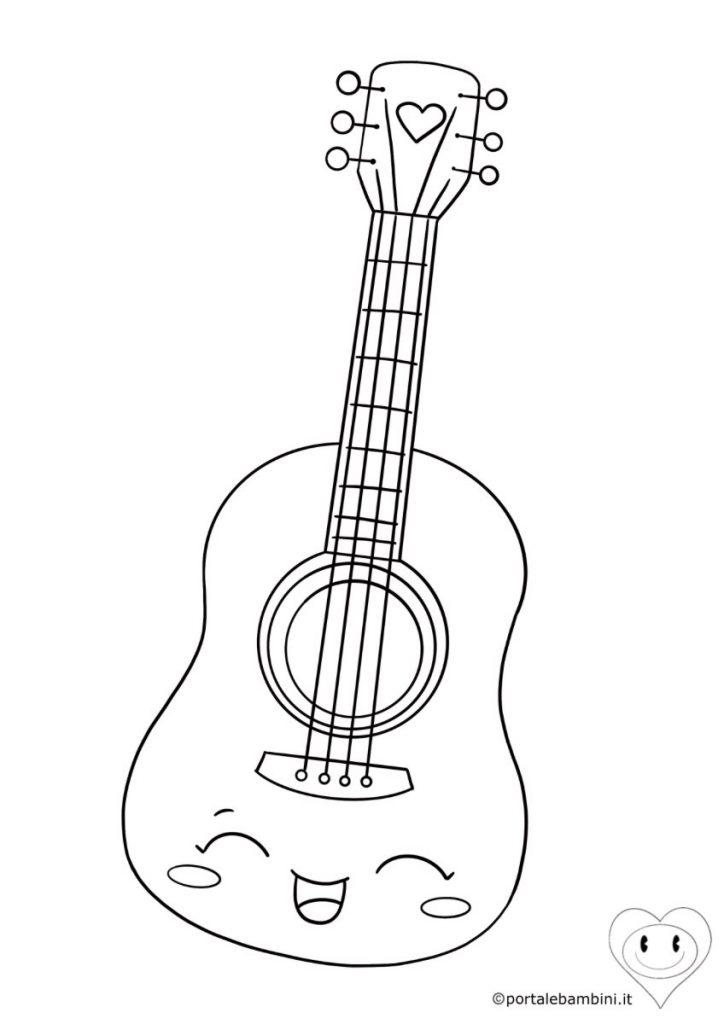 strumenti musicali da colorare chitarra