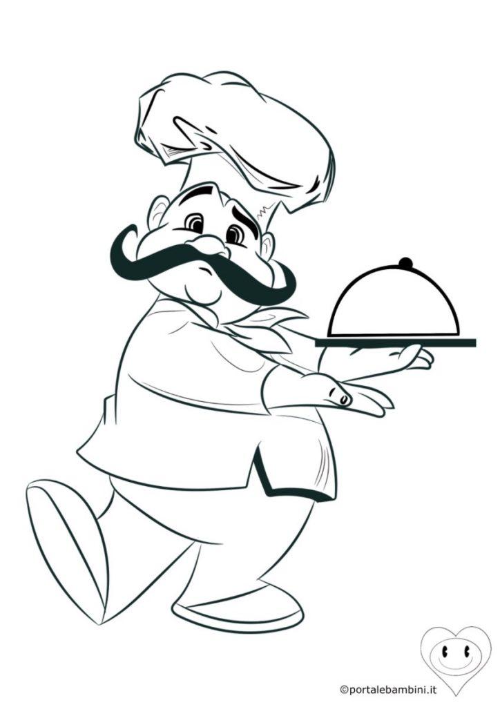cuoco da colorare 1