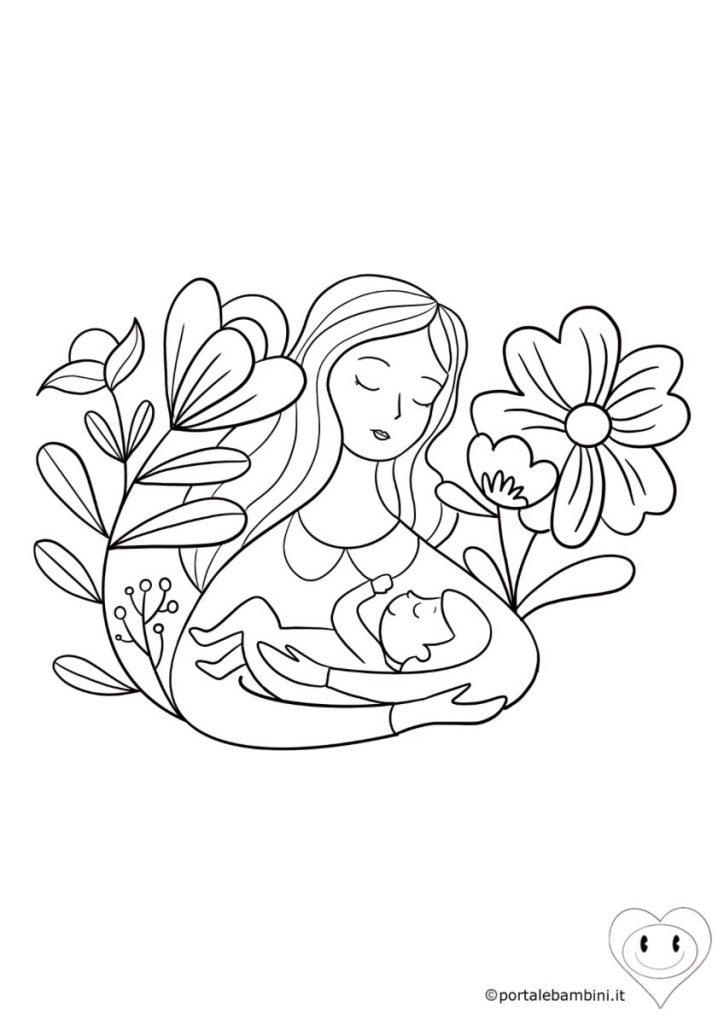 disegni per la festa della mamma da colorare 4