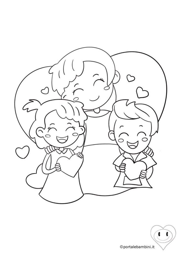 disegni per la festa della mamma da colorare 2